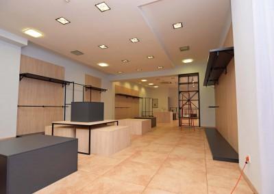 Projekt komercyjnej realizacji wnętrza z projekt stworzonego przez Mobiliani Design.