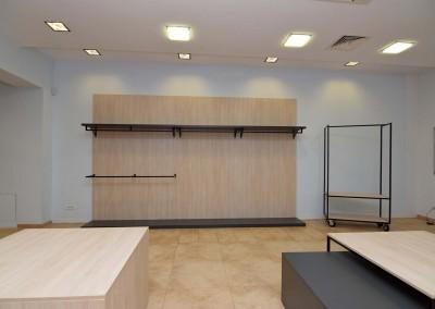 Stylowe i nowoczesne rozwiązanie dla celów ekspozycyjnych towarów w sklepie.