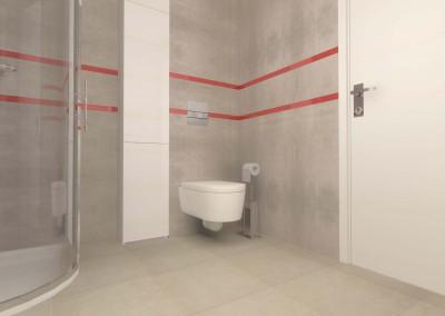 Rzut na nietypową toaletę zaprojektowaną przez Mobiliani Design.