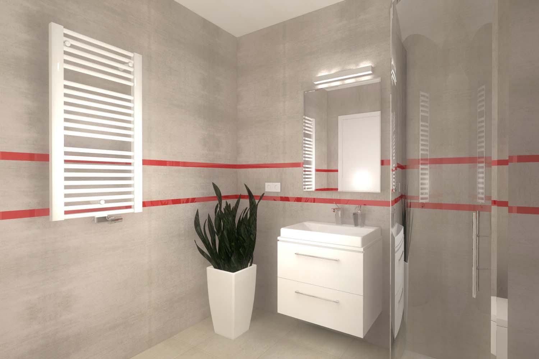 Wnętrza łazienki zaprojektowane przez architekta
