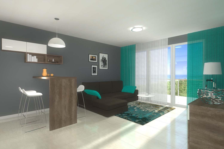 Gotowy projekt wnętrza dla apartamentu