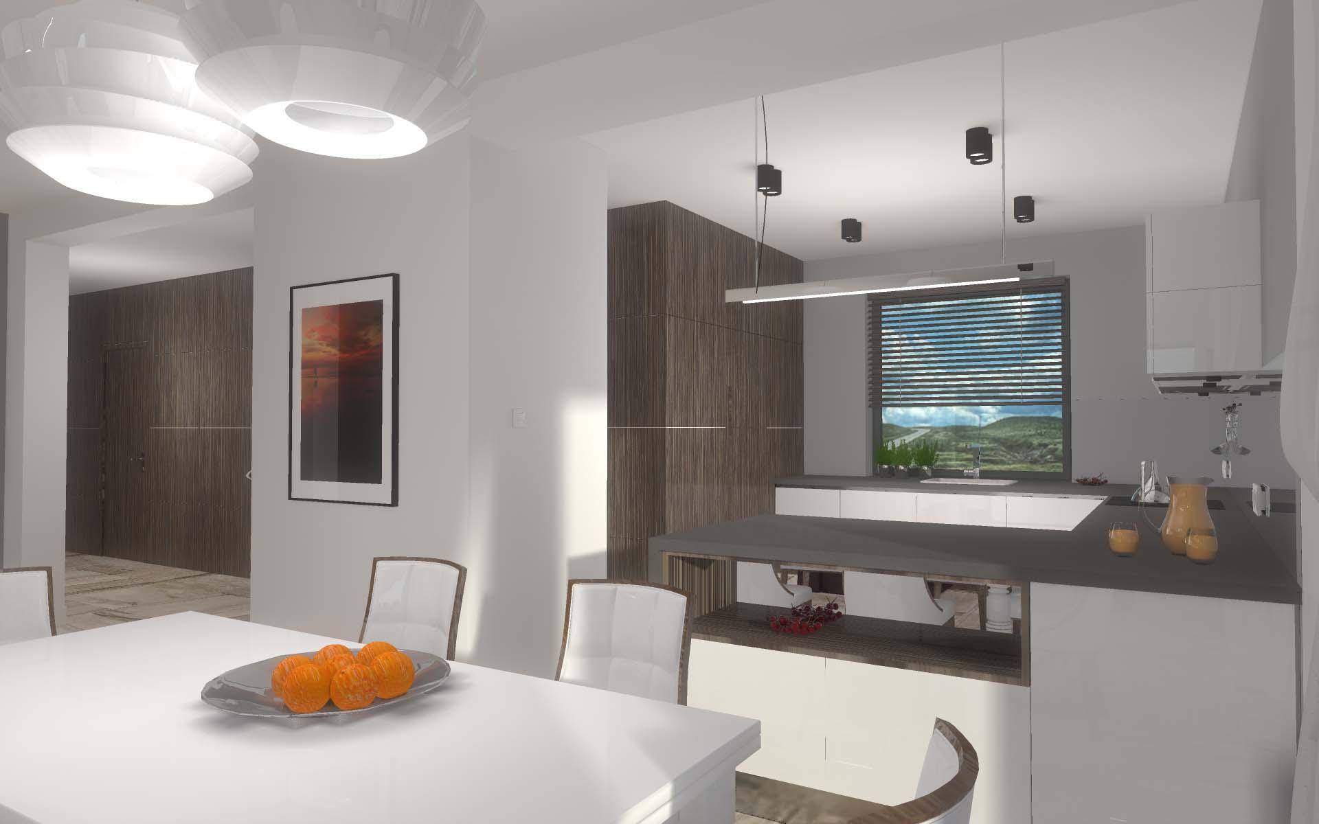 Projekt wnętrz mieszkania w Bydgoszczy