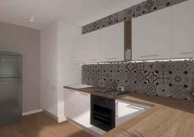 Przestronny projekt minimalistycznej kuchni.