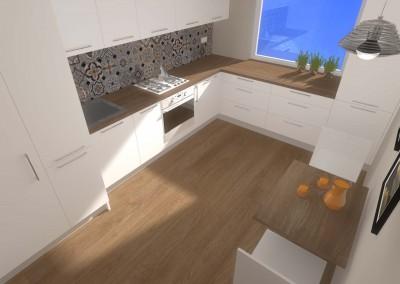 Rzut z góry na kuchnię - Mobiliani Design.