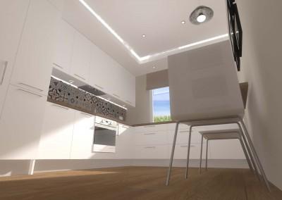 Aranżacja przestrzeni kuchni w bydgoskim bloku.