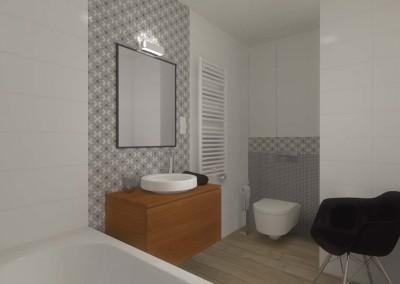 Łazienka w projekcie mieszkania.
