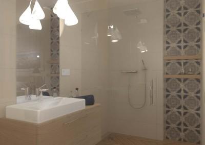 Projekt trzeciej toalety w hotelu typu Spa w Bydgoszczy.