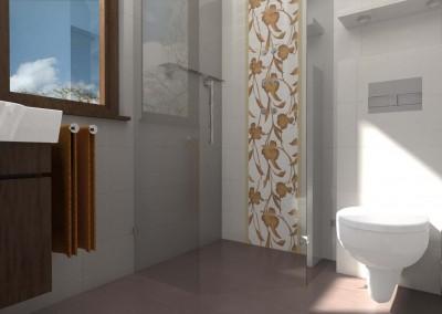 Aranżacja łazienki z prysznicem - Mobiliani Design.