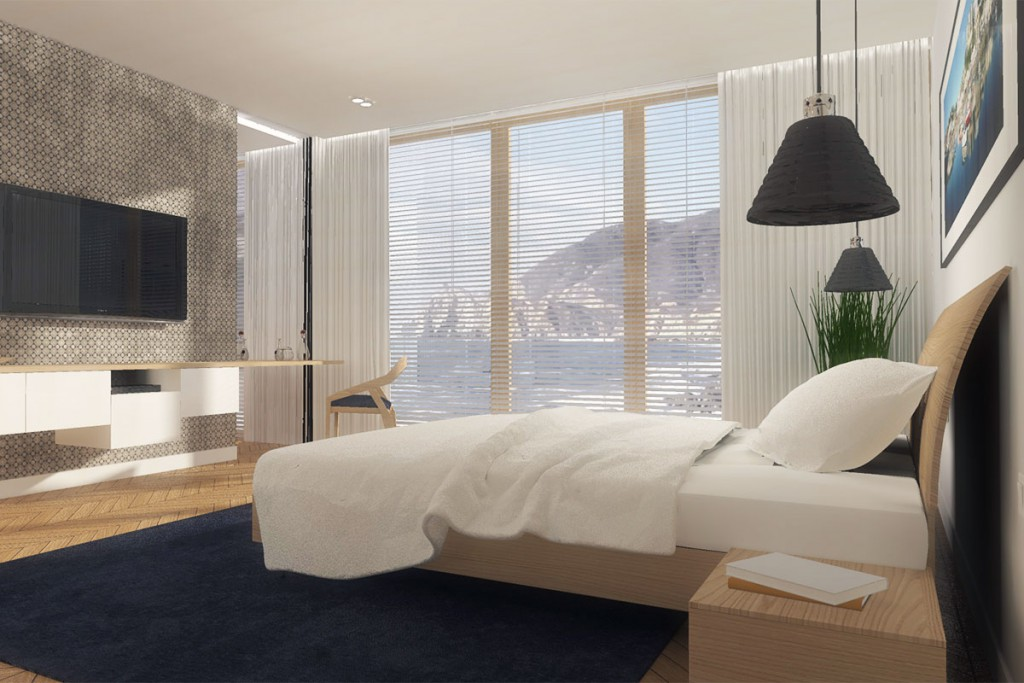 Projekt wnętrza prywatnej sypialni dla mieszkańców Bydgoszcz - Mobiliani Design.