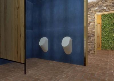Męska toaleta w kawiarni - architekt wnętrz, Bydgoszcz.