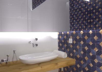 Wizualizacja części toalety w mieszkaniu.