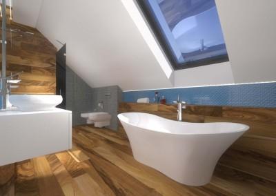 Drewno, biel i morskie odcienie świetnie komponują się w aranżacji wnętrza