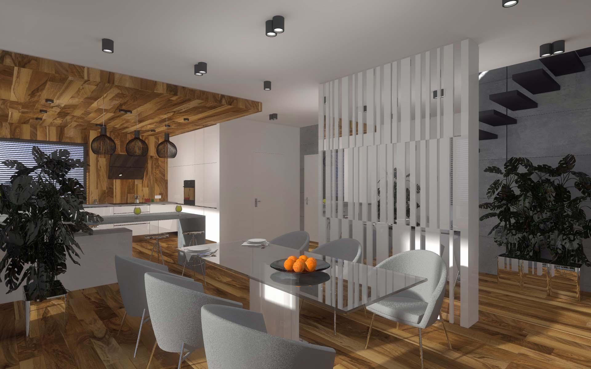 Projekt wnętrza kuchni wykonany przez architekta Mobiliani Design