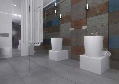 łazienka z toaletą - projektowanie wnętrz w Bydgoszczy, Mobiliani Design.