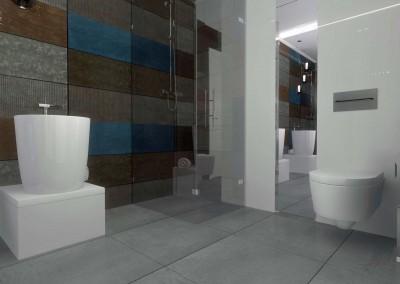 Łazienka zaprojektowana dla apartamentu Kropla Beskidu.