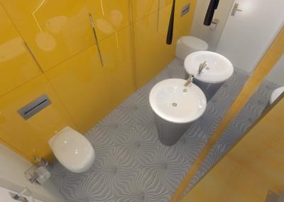 Część projektu z toaletą w łazience.