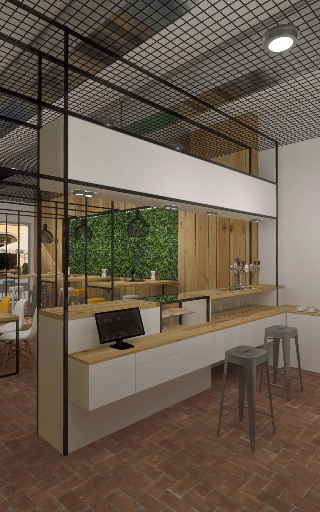 Projekt wnętrza kawiarni - Mobiliani Design Bydgoszcz.