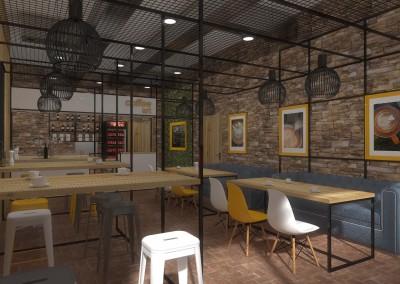 Wnętrze kawiarni w Bydgoszczy - strefa dla Gości.