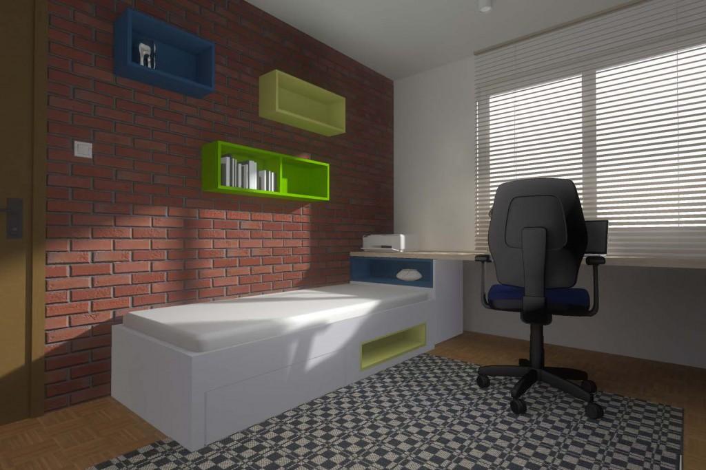 Projekt i aranżacja wnętrza pokoju dla nastolatka