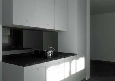 W ramach projektowania wnętrz zapoponowano ekskluzywne meble kuchenne na wymiar