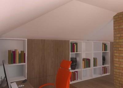 Aranżacja wnętrza domowego biura łączy ze sobą styl i użyteczność