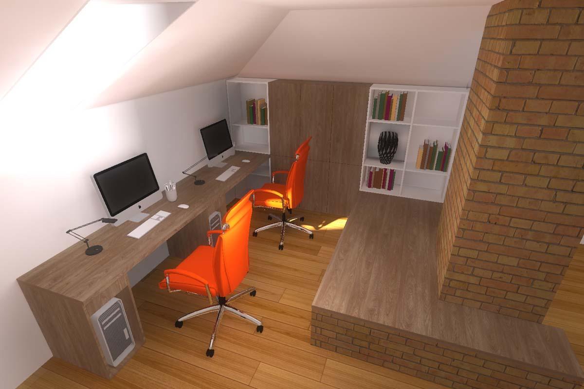 Wygodne i nowoczesne domowe biuro
