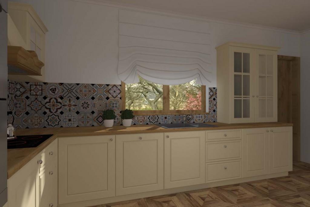 W kuchni znajdują się stylowe, ale posiadają nowocxesne elementy meble na wymiar