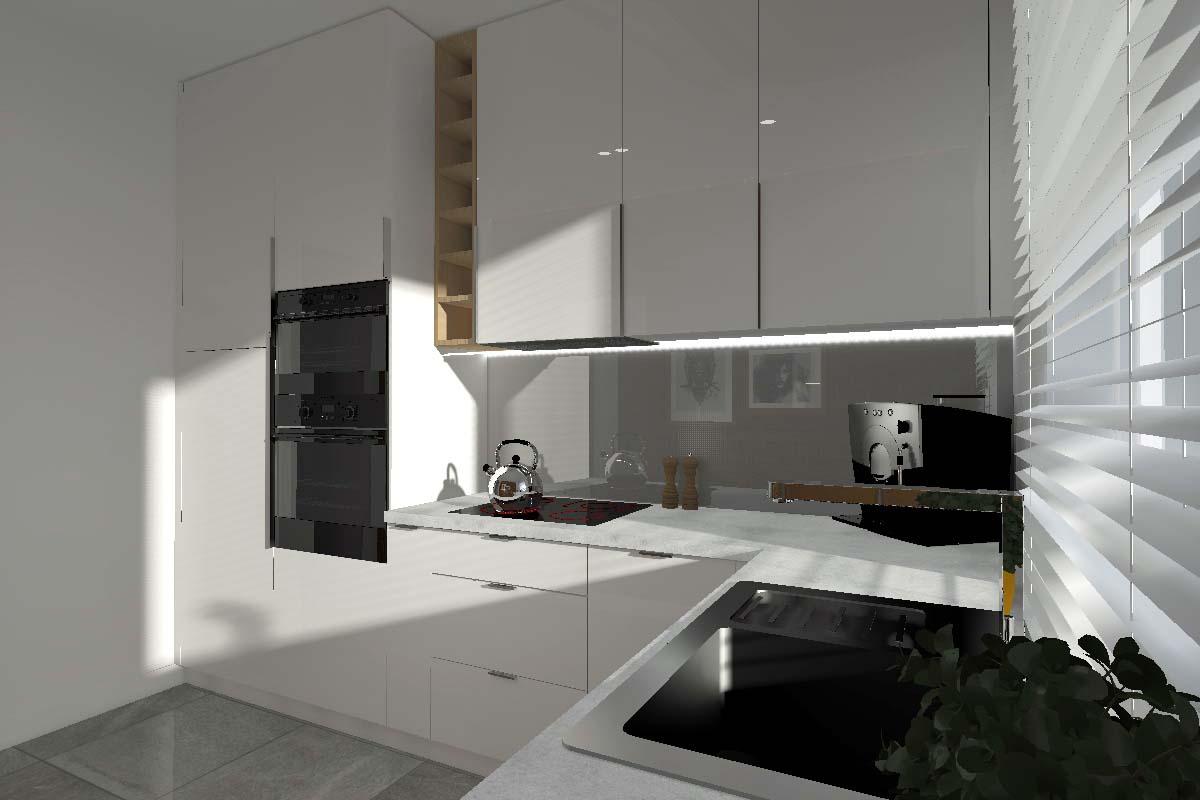 Modny projekt kuchni dla singla  trendy wnętrzarskie   -> Projekt Kuchni Duzej