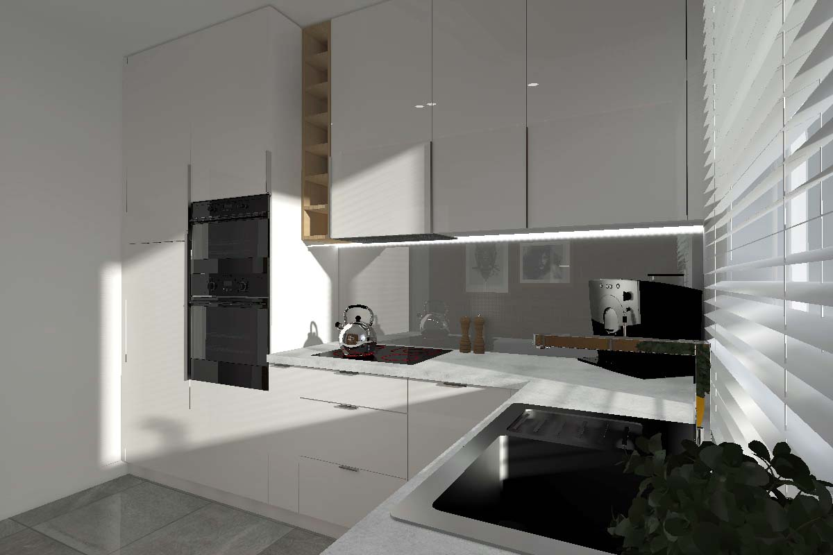 Modny projekt kuchni dla singla  trendy wnętrzarskie  Mobiliani Design Bydg  -> Projekt Kuchni Trójmiasto