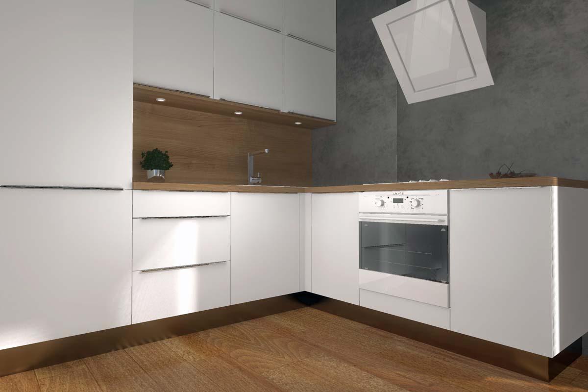 Projekt kuchni z betonową ścianą  Mobiliani Design Bydgoszcz -> Projekt Kuchni Duzej