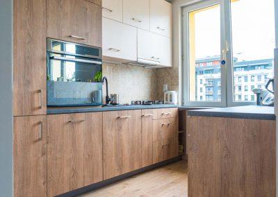 Kuchnia w drewnianym designie