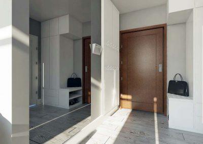 Projekt apartamentu w Nordic Haven w Bydgoszczy.