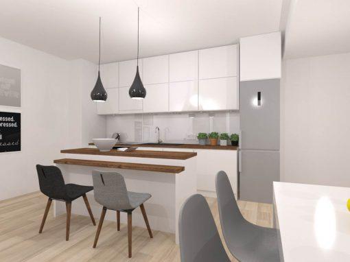 Biała, minimalistyczna kuchnia