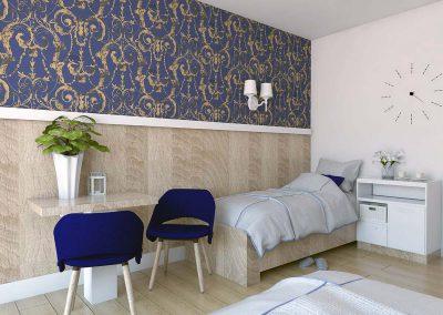 Projekt wnętrz pokoi hotelowych