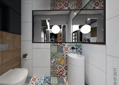 Designerska łazienka dla domu w Bydgoszczy