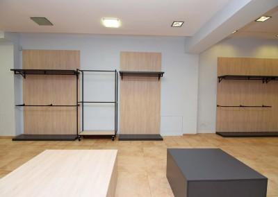 Realizacja w jednym z etapów odtwarzania projektu wnętrza butiku w Bydgoszczy.