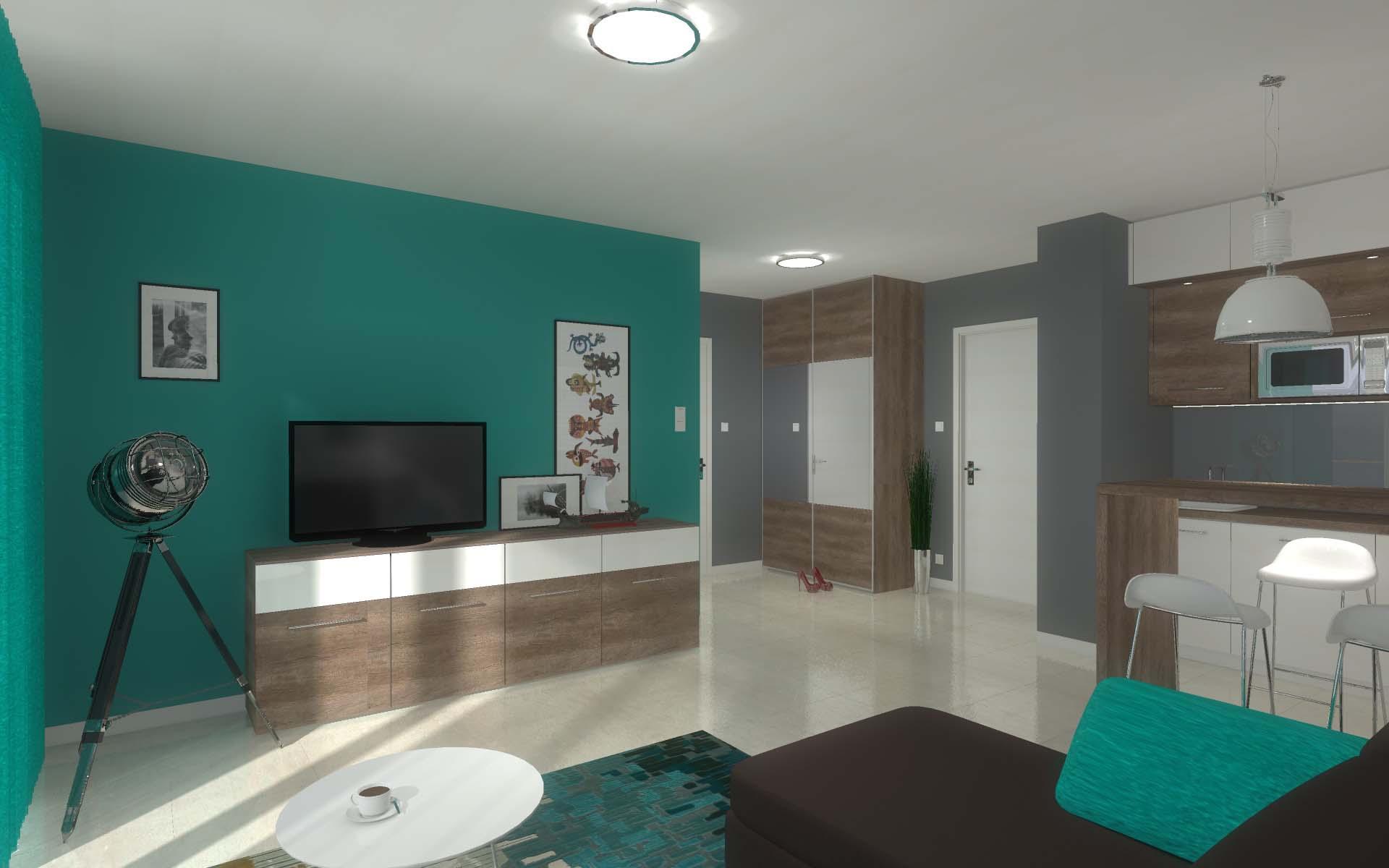 Projekt wnętrza apartamentu Kropla Bałtyku w Darłówku - Mobiliani Design Bydgoszcz