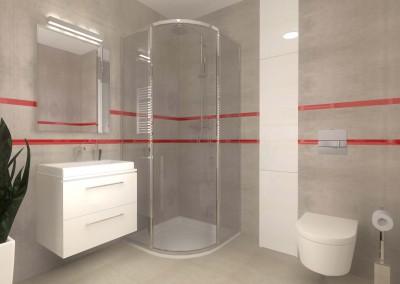 Wnętrze łazienki zaprojektowane i zaaranżowane na zamówienie, wykonane przez Mobiliani Design.