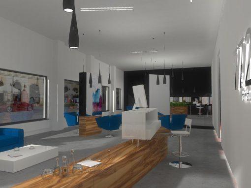 Projekt wnętrza salonu fryzjerskiego w Bydgoszczy