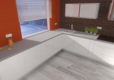 Aranżacja oraz projekt wnętrza designerskiej kuchni.