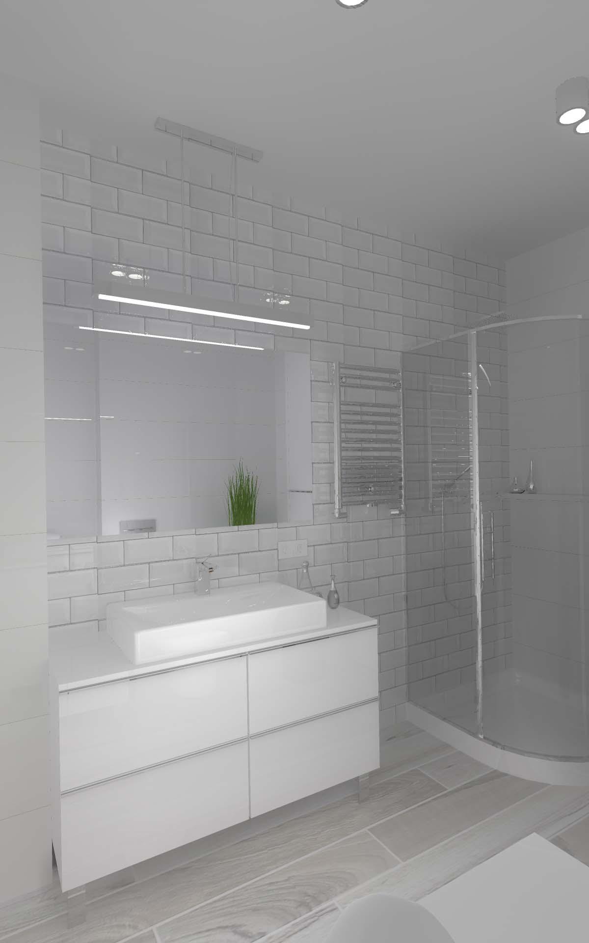 Projekt Kuchni I łazienki Domu W Gościeradzu Mobiliani