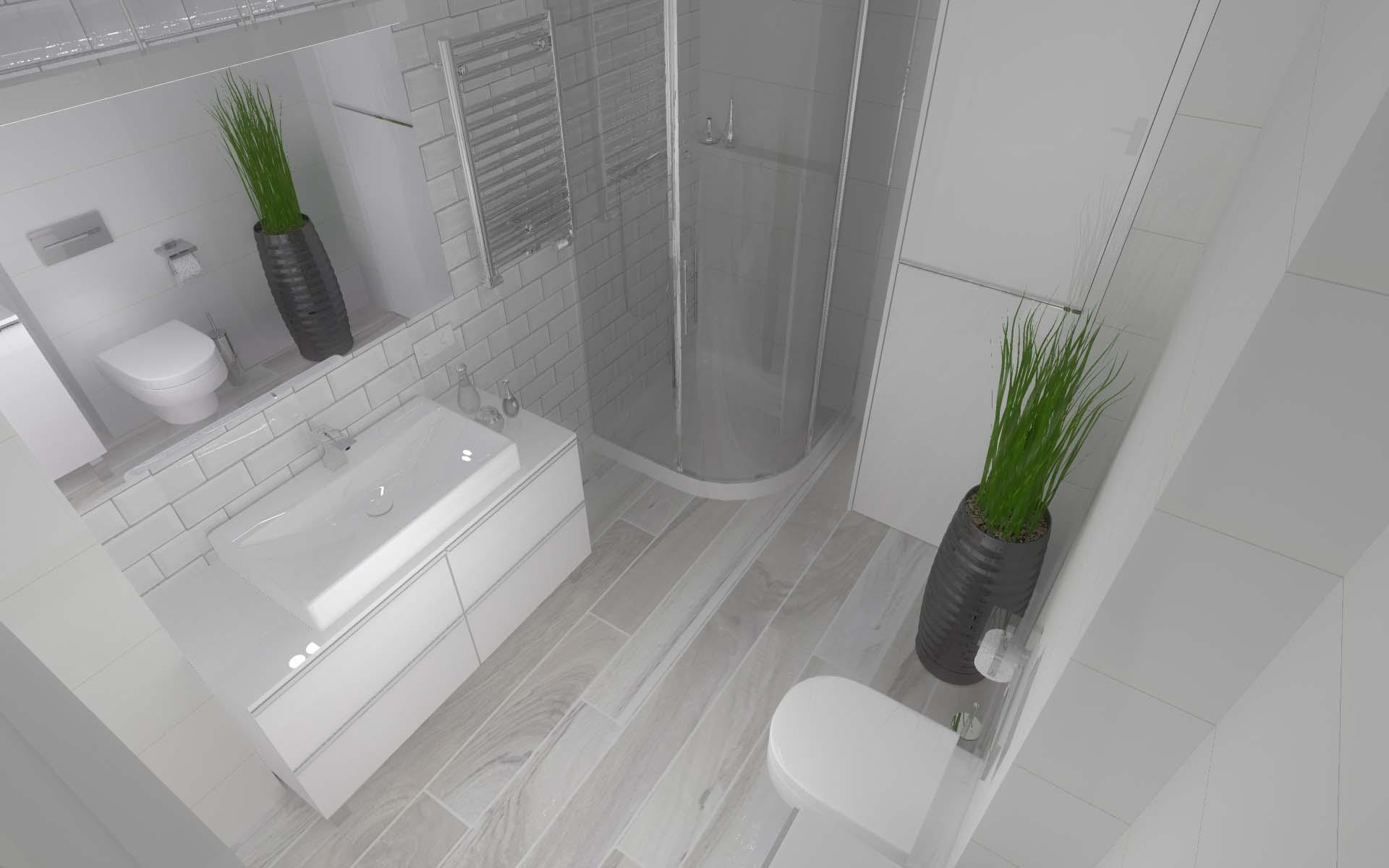 Projekt kuchni i łazienki domu w Gościeradzu