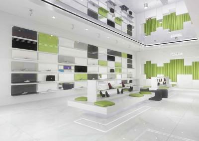 Designerski projekt sklepu wykonany przez architekta wnętrz.