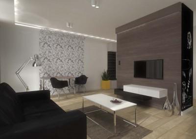 Przestronne wnętrze apartamentu na ul. Słonecznej w Bydgoszczy.