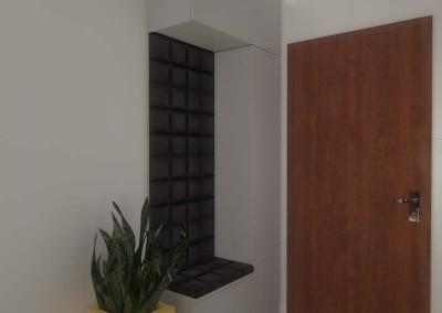 Wejście do mieszkania pokazowego w projekcie wnętrza.