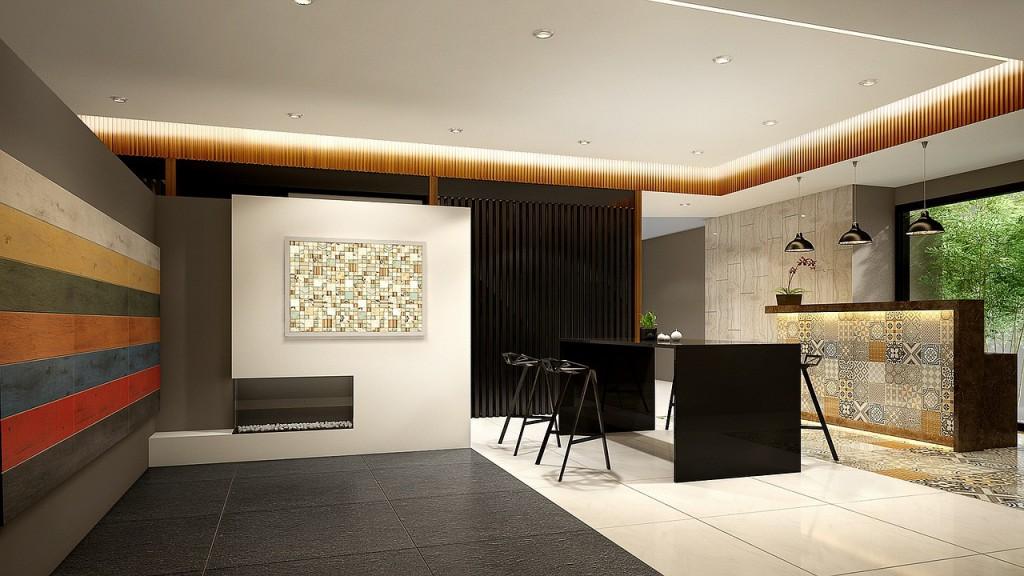 Realizacja wnętrza z projektu apartamentu w Bydgoszczy.