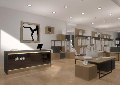 Przestrzeń butiku w projekcie od Mobiliani Design.