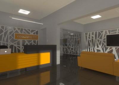 Projekt wnętrza biura w Bydgoszczy.