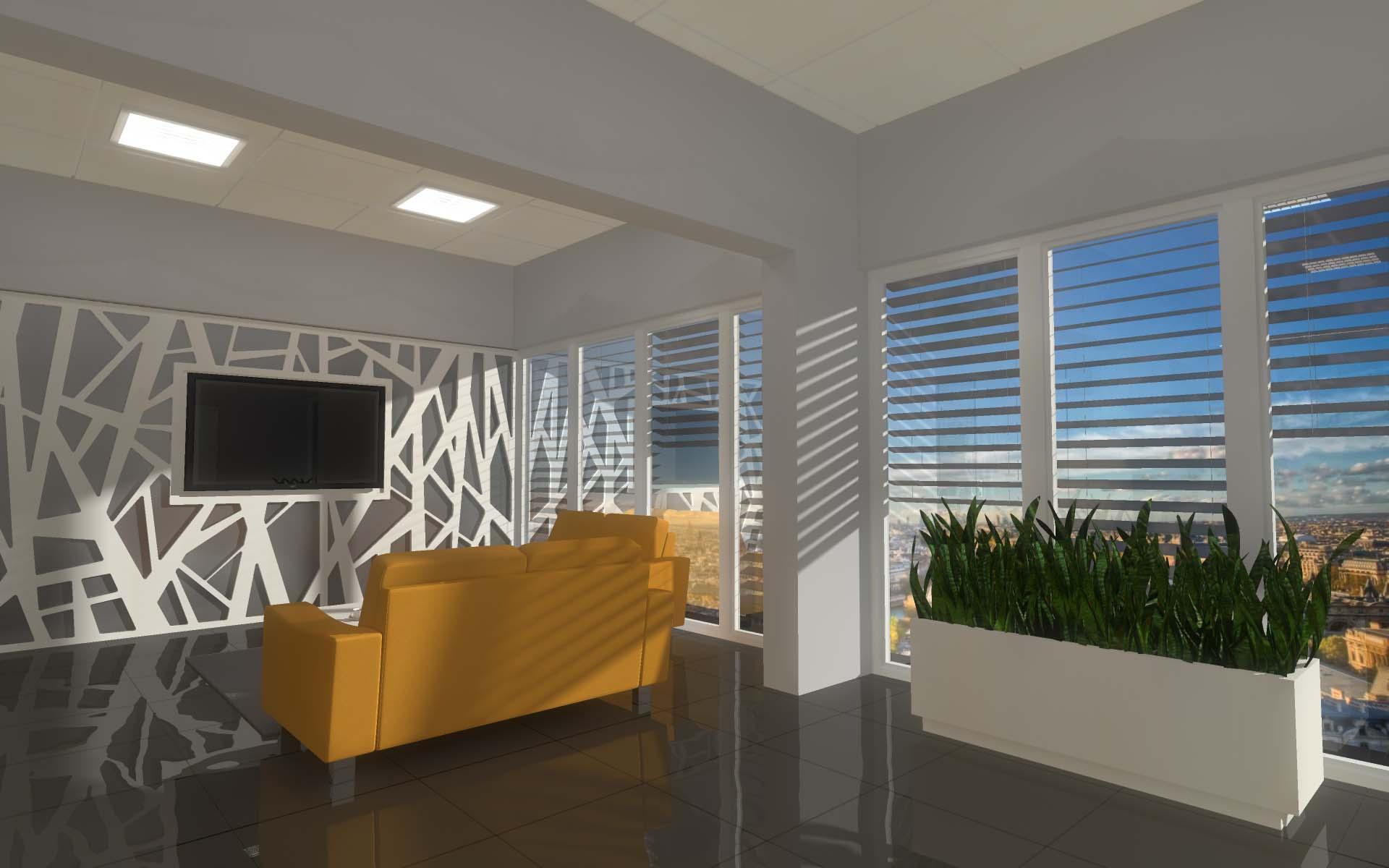 Aranżacja biura - widok na wnętrze