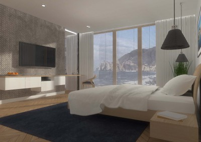 Sypialnia z TV w hotelu ze strefą Spa.